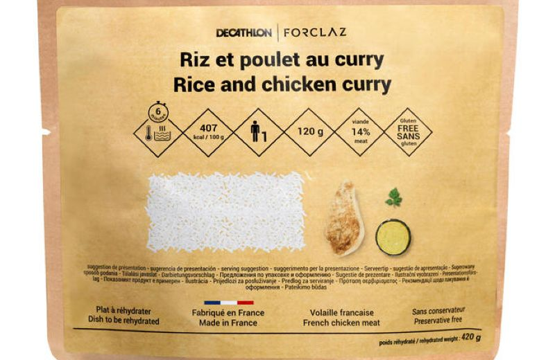 FORCLAZ RICE CHICKEN CURRY DRIED MEAL SS19 AW19