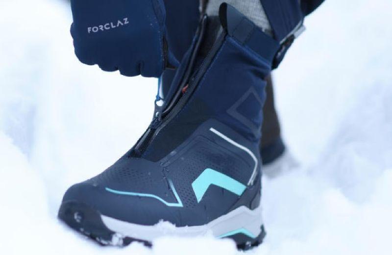 Botas de Nieve y Apreski Impermeables Mujer Quechua SH920 X-Warm Azul Caña Media