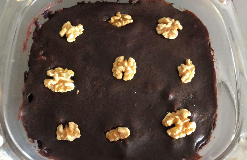 brownie platano y cacao