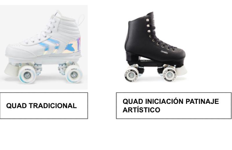 diferencias patines quad