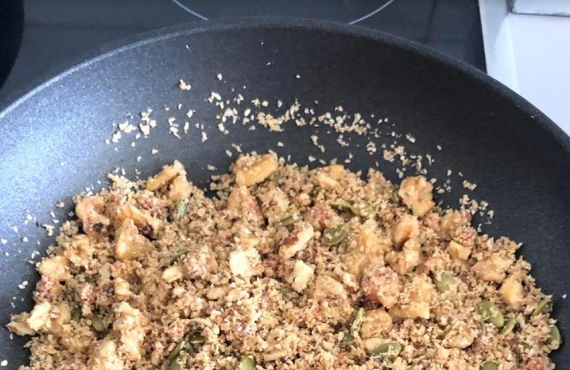 granola en sarten
