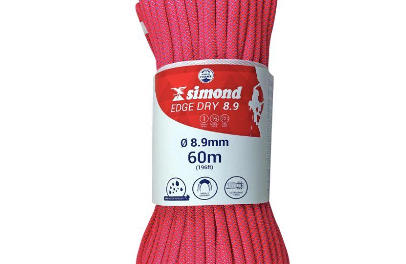 Cuerda Escalada Simond Edge Rosa 8,9mm x 100m