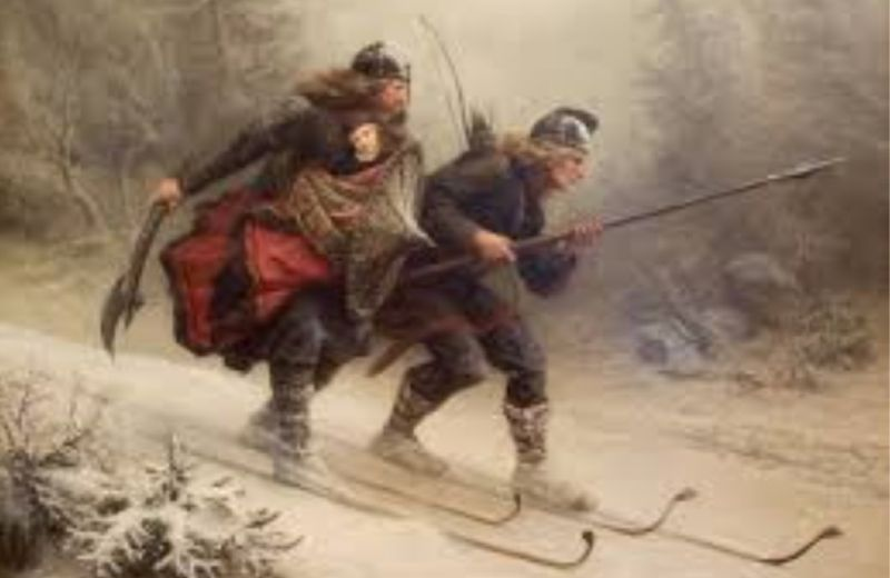 esquis madera caza