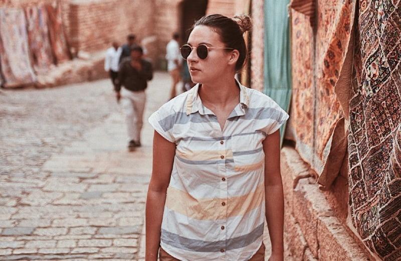 camisa viaje travel 100 forclaz decathon
