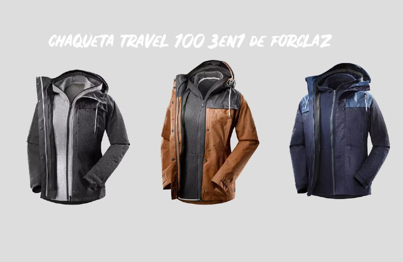 chaqueta 3 en 1 impermeable modulable viaje decathlon