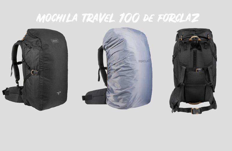 MOCHILA TRAVEL 100 VIAJE CABINA MALETA DECATHLON