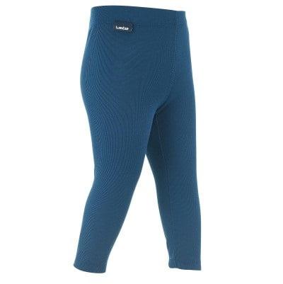 Pantalon Térmico Interior Nieve y Esquí Wed'ze Simple Warm Bebé Azul Marino Trin