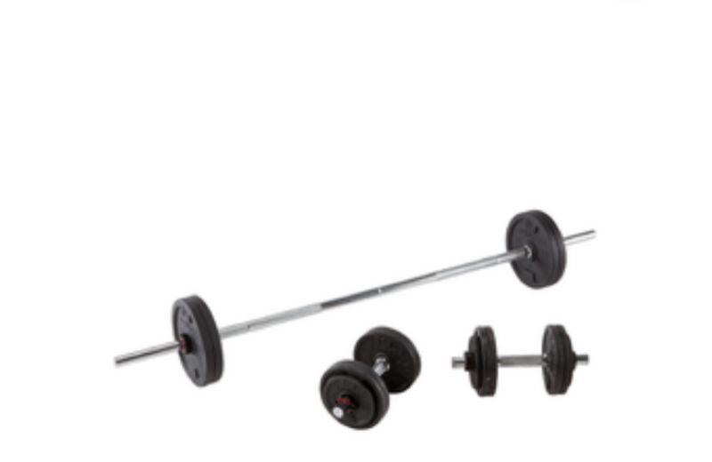 Barra para cargadas y otros ejercicios.