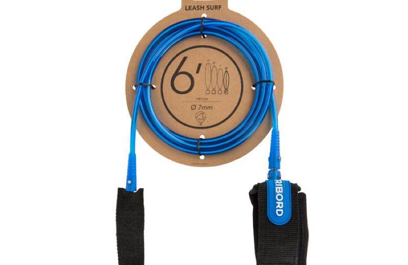 Leash Surf Olaian Lsurf 6 Azul Diámetro 7 mm