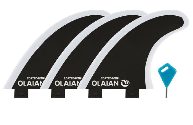 Quilla Tabla Surf Olaian 500 Alerón Borde Flexible No Cortante Compatible FSC