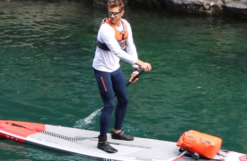 Malla larga kayak y paddle