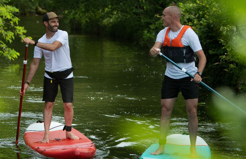 tablas paddle surf hinchables travesía rio