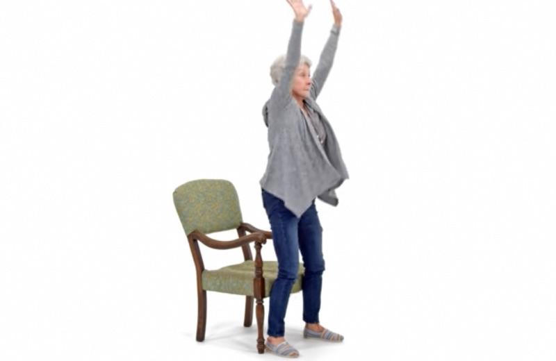 Sentadilla posición de pie