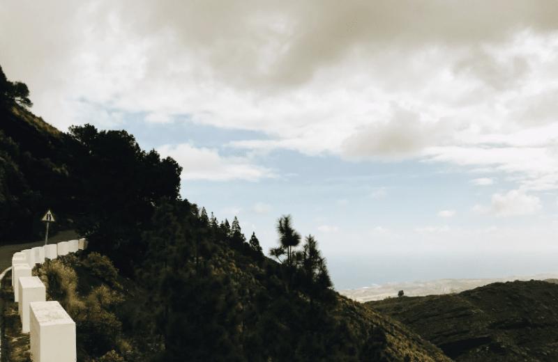 Subiendo el Pico de Bandama.