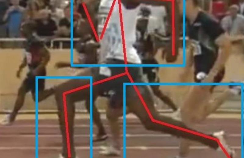 Usain Bolt fase de vuelo