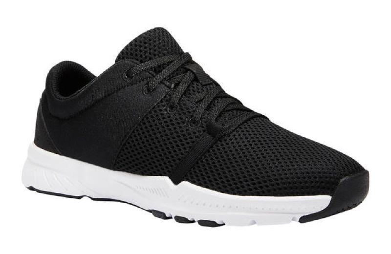 zapatillas-fitness-domyos-100-mujer-negro