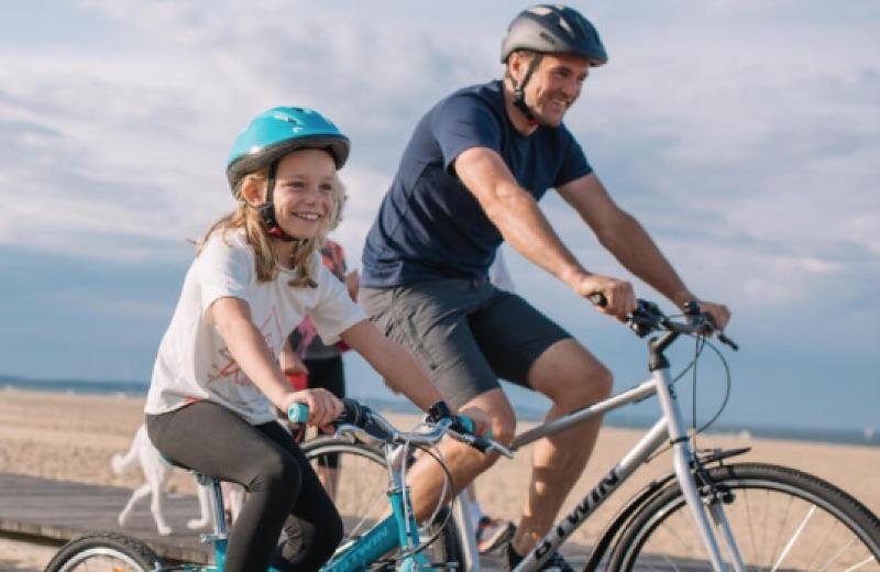 Ciclismo trekking con hijos