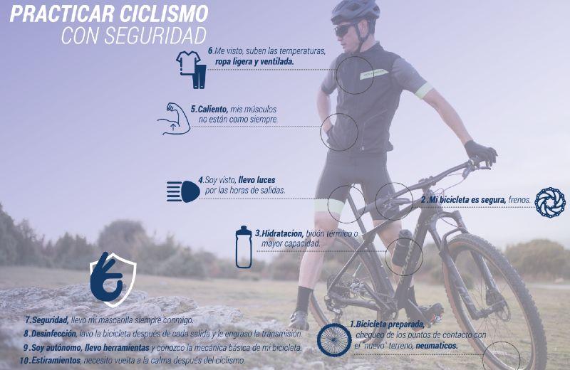 Sigue saliendo en bicicleta con seguridad
