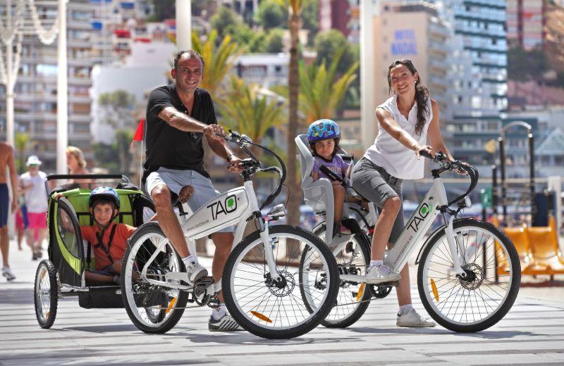 bici en familia