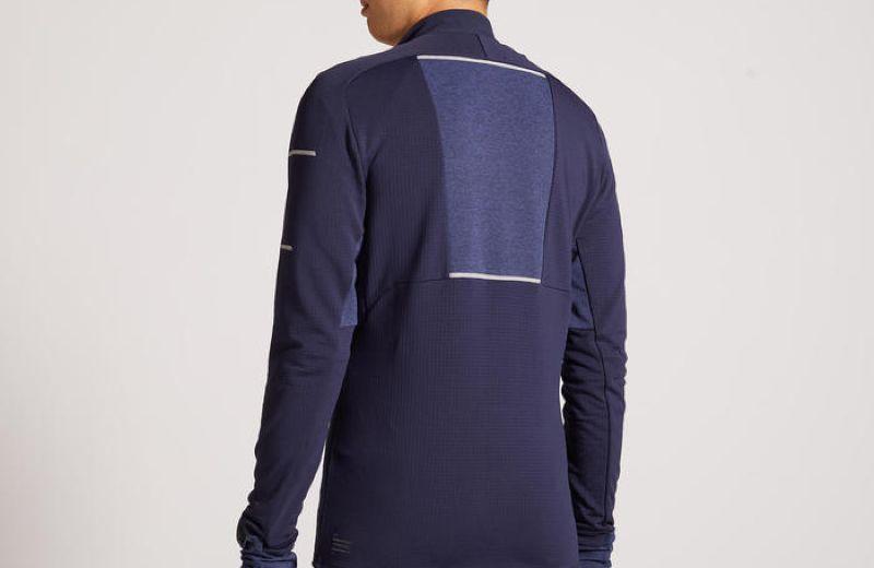 Camiseta+Manga+Larga+Running+Kiprun+Warm+Regul+Hombre+Azul+Invierno
