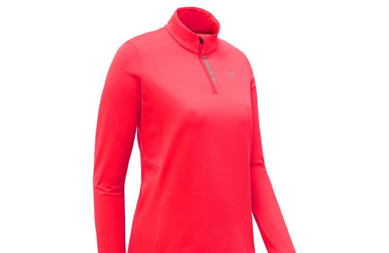 Camiseta+T+rmica+de+Running+De+Mujer+Run+Warm+Coral