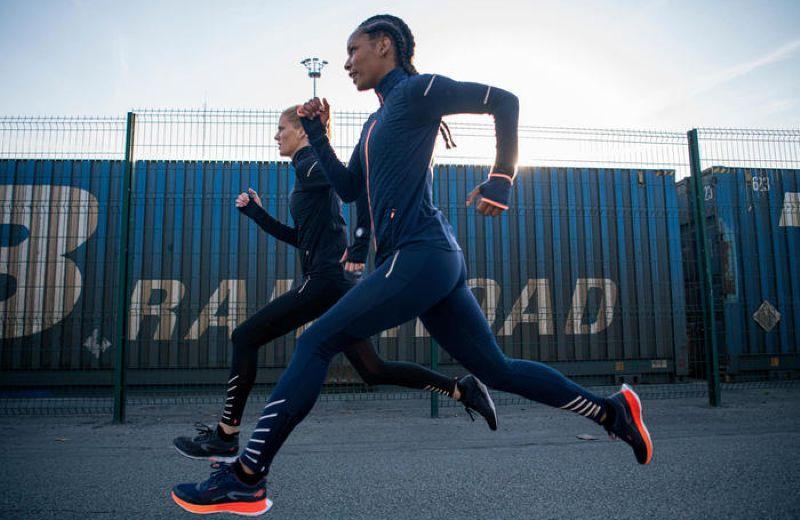Mallas+Largas+Running+Kiprun+Warm+Mujer+Negro+C+lidas