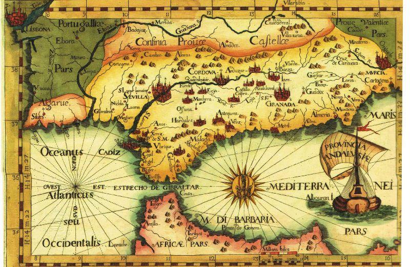 mapa Andalucía antiguo