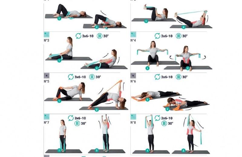 ejercicios pilates con cinta elastica