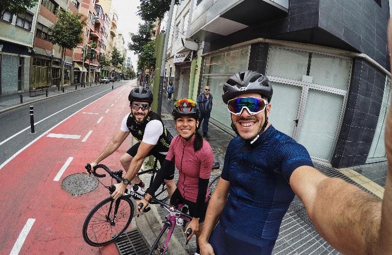 Miguel, Alejandra y yo.