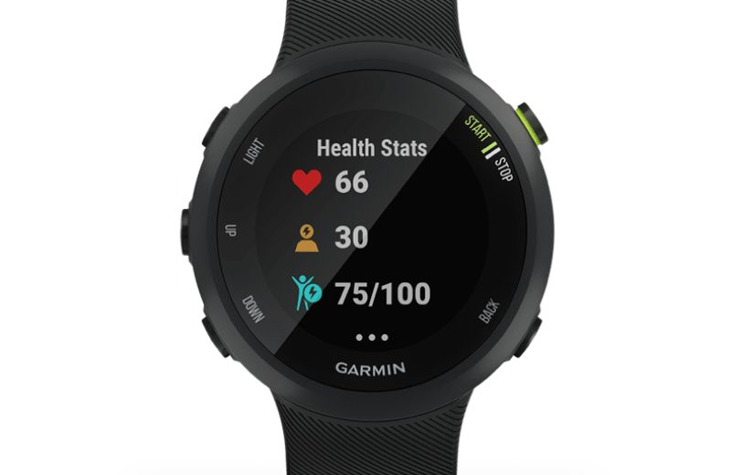 garmin forerunner 45 negro body battery estrés frecuencia cardíaca