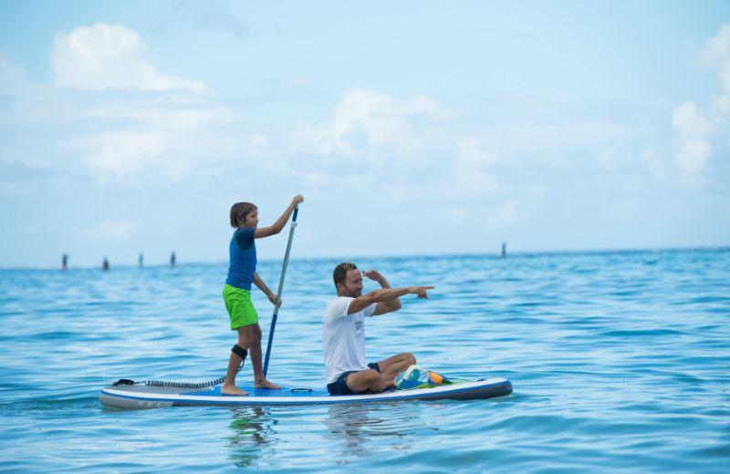 Paddle surf padre hijo