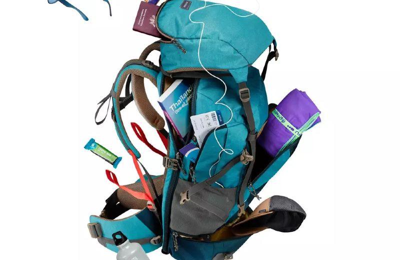 Mochila+50+litros+de+trekking+viaje+TRAVEL+500+azul+mujer (1) - Edited