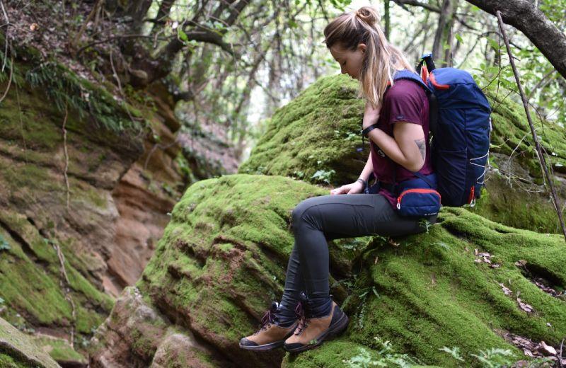botas mujer trek100 montaña