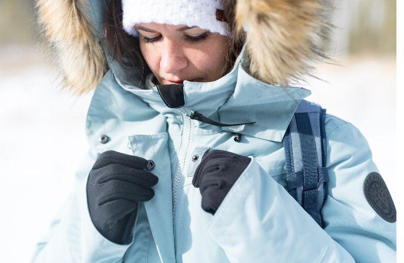 chaqueta nieve montaña mujer