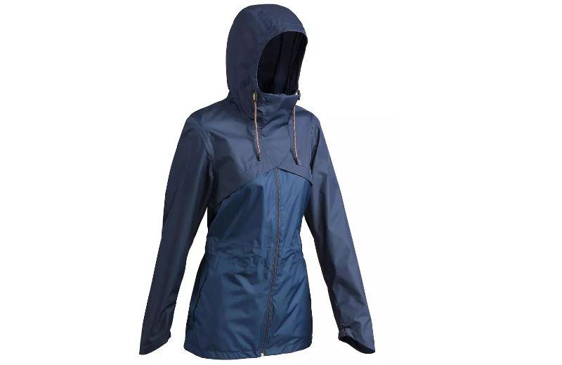 Chaqueta+Impermeable+de+Monta+a+y+Trekking+Quechua+NH500+de+Mujer+Azul