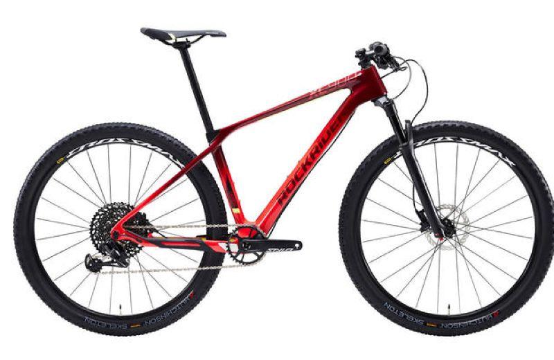Bicicleta+DE+MONTA+A+Carbono+ROCKRIDER+XC+900+29+12V+rojo+y+amarillo