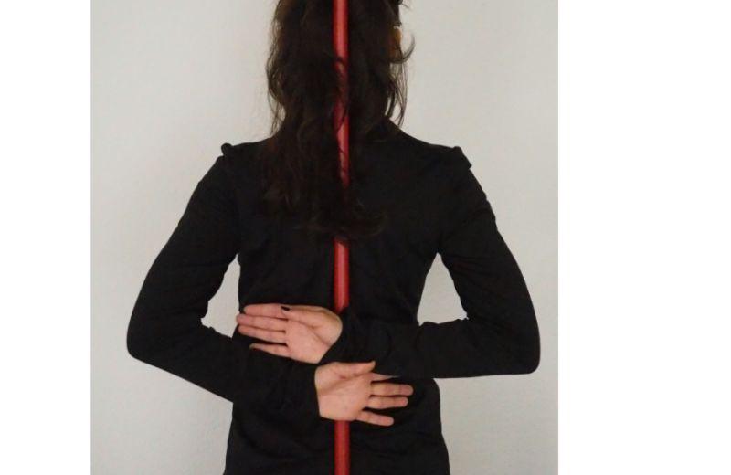 Ejercicio sencillo para mejorar la postura corporal