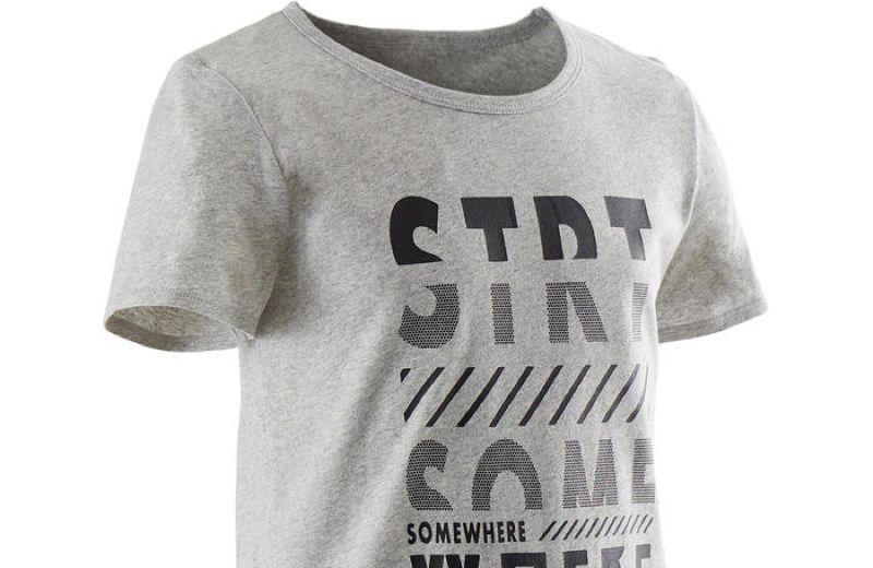 Camiseta Básica niño Decathlon con letras