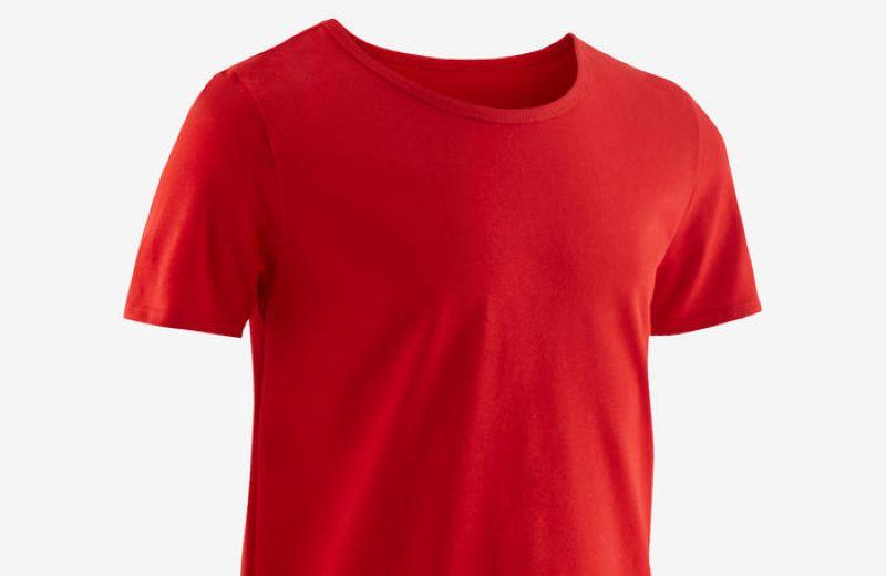 camiseta basica roja de niño