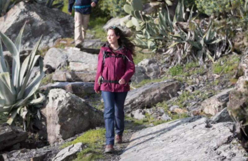 Chaqueta 3 en 1 de Montaña y Trekking Viaje, Forclaz, TRAVEL 100, Mujer