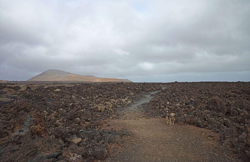 foto sendero caldera blanca Lanzarote