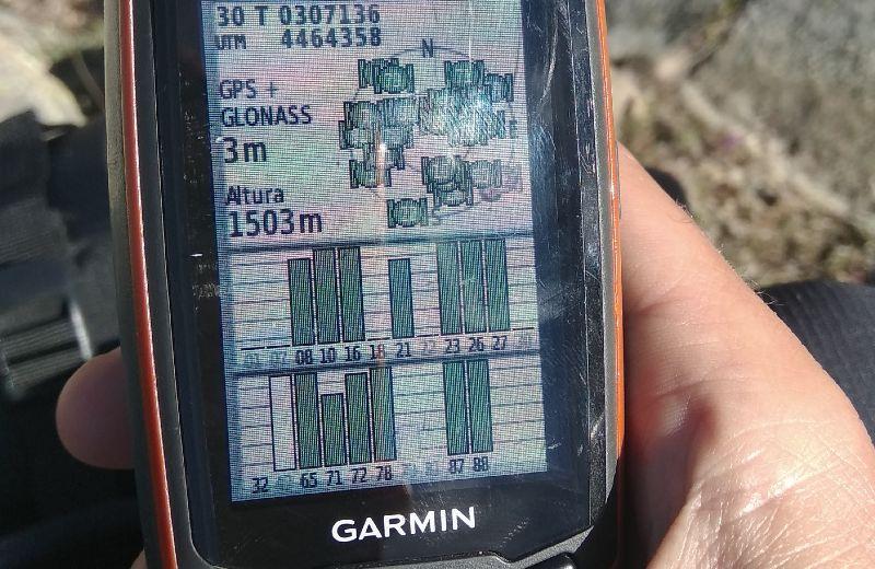 Consultando la altura en el GPS