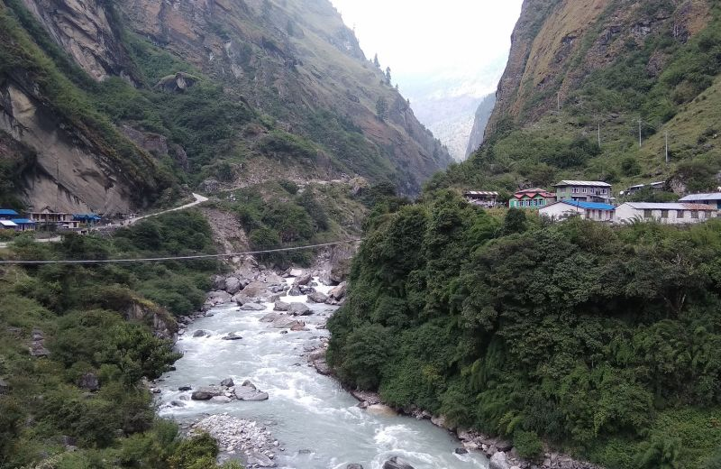 El valle del Marsyandi Khola