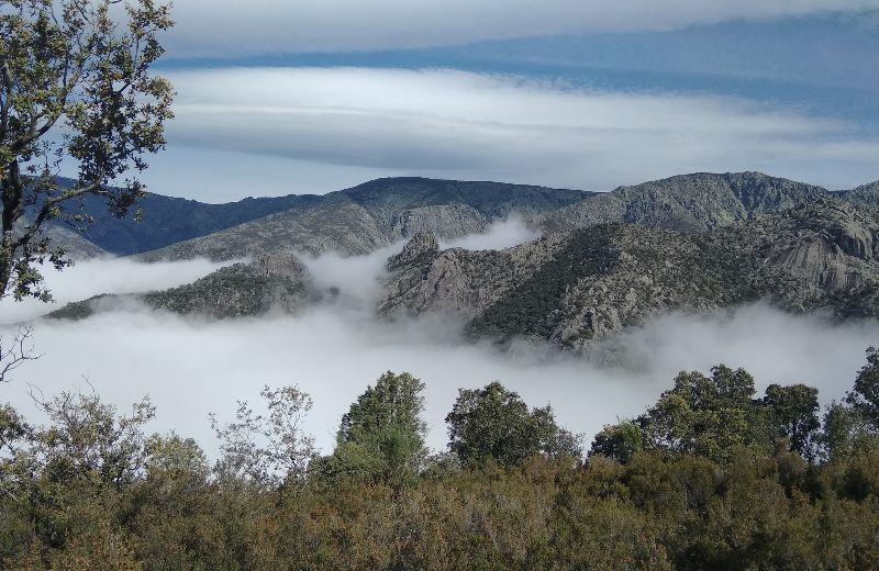 Los Hermanitos de Tejea rodeados de niebla