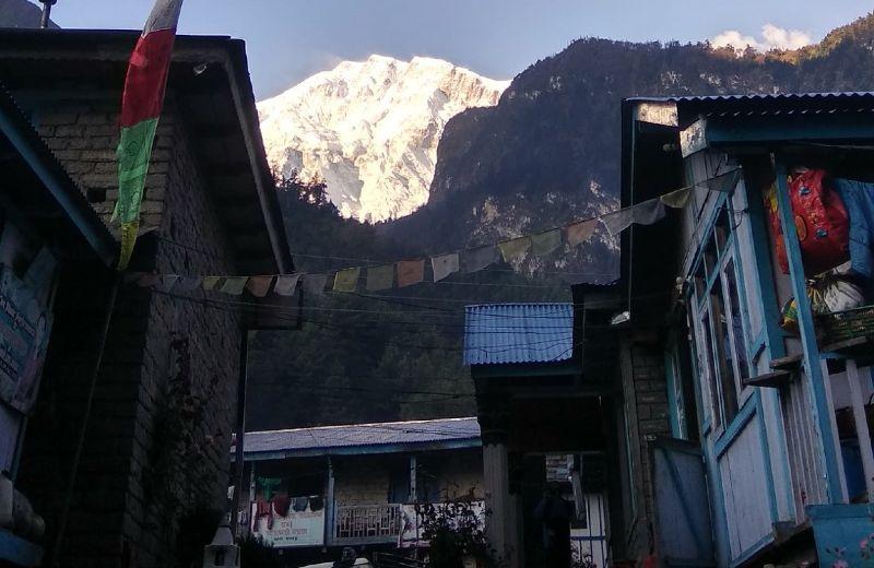 Vistas del Lanjung Himal desde Chame