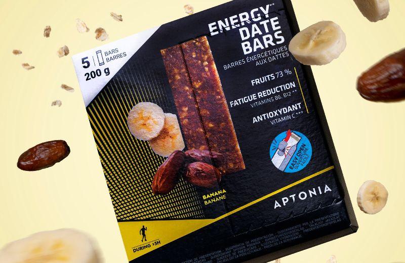 Barrita energética dátiles y plátano