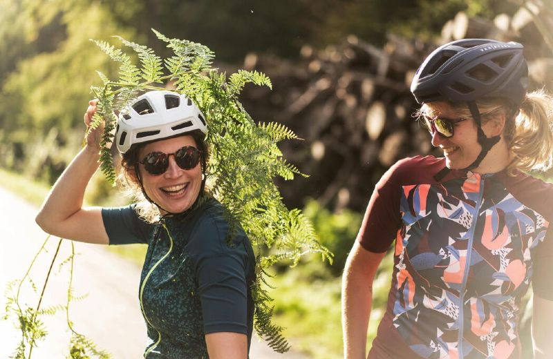 TRIBAN CYCLING SHORTSLEEVES JERSEY 500 WOMAN W