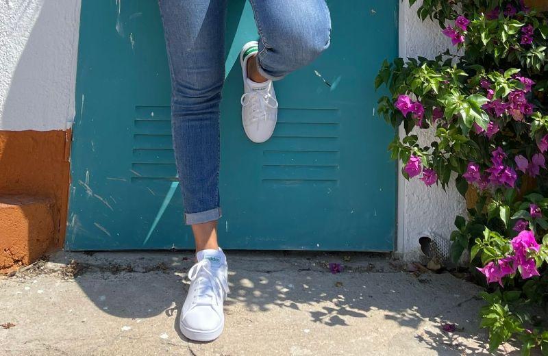 zapatillas adidas niño blanco verde advantage neo