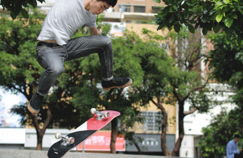 skateboard team galaxy red