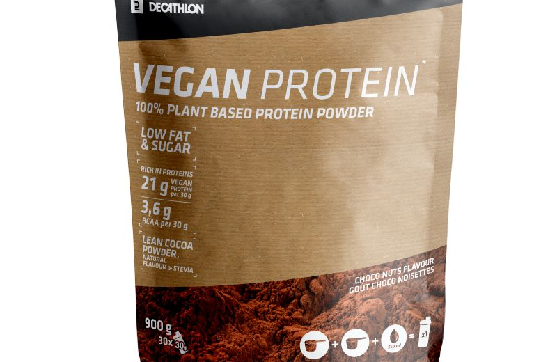 DOMYOS VEGAN PROTEIN POWDER CHOCO NUTS - 000 --- Expires on 10-06-2030
